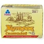 Масло Рудь Хуторок Селянский сладкосливочное 73% 200г Украина