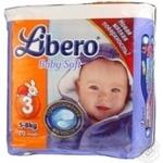 Подгузник Либеро Бэби софт для детей 5-8кг 20шт Швеция