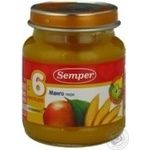 Puree Semper Mango with vitamin C for 6+ month old babies glass jar 135g Sweden