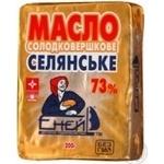 Масло Еней солодковершкове селянське 73% 200г Україна