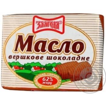 Масло Злагода сливочное шоколадное 62% 180г