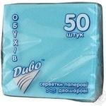 Napkins Dyvo turquoise paper for serving 50pcs 100g Ukraine