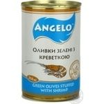 olive Angelo shrimp green pitted 314g can Spain