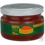 Caviar Rusalochka proteinic red chilled 400g glass jar