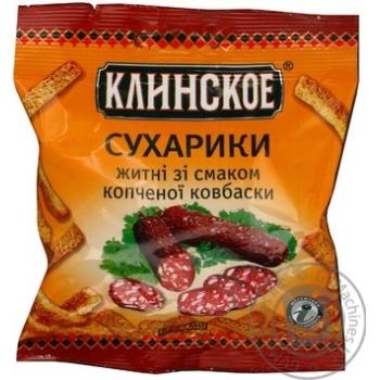 Snack Klinskie with smoked sausage in capital 40g Ukraine