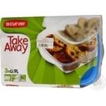 Food storage box Curver for freezer 3pcs Poland
