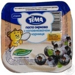 Sweet cottage cheese Tema blueberries for 3+ years babies 4.2% 100g Ukraine
