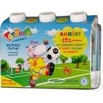 Молоко Тотоша ультрапастеризованное для детей 2.5% 3шт 600г тетрапакет Украина