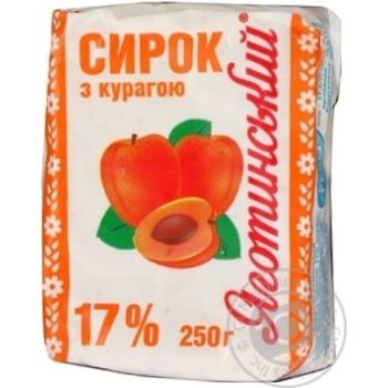Творожок Яготинский с курагой 17% 250г Украина
