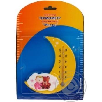 Термометр Віктер Кімнатний Місяць П-17 - купити, ціни на УльтраМаркет - фото 1