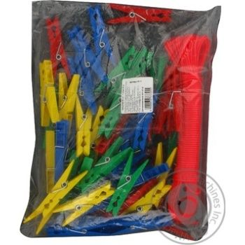 Прищіпки MTM 50шт+мотузка 20м 3117 - купить, цены на Novus - фото 4