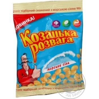 Горішки з морскою сіллю Козацька розвага 90г