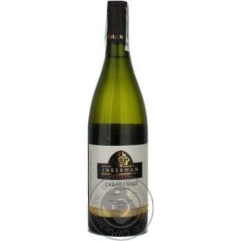 Wine chardonnay Inkerman white dry 14% 2011year 750ml glass bottle Ukraine - buy, prices for Novus - image 1