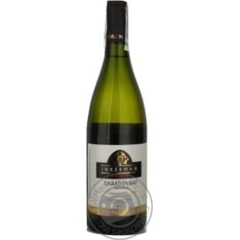 Wine chardonnay Inkerman white dry 14% 2011year 750ml glass bottle Ukraine - buy, prices for Novus - image 5