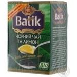 Чай Батік лимон чорне 65г Україна