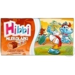 Шоколадки Hibbi Млеколадки з начинкою тоффі 100г