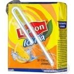 Non-alcoholic non-carbonated pasteurized drink Lipton Ice Tea black tea with lemon taste 200ml plastic bottle Ukraine