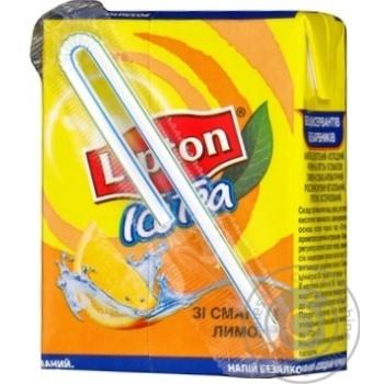 Напиток Липтон Холодный Черный Чай со вкусом Лимона безалкогольный негазированный пастеризованный 200мл тетрапакет Украина