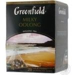 Chinese pekoe tea Greenfield Milky Oolong with milk flavor 20х1.8g teabags Russia