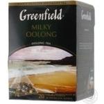 Чай Грінфілд Мілки Оолонг китайський байховий зі смаком і ароматом молока в пакетиках 20х1.8г Росія