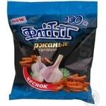 Snack Flint with garlic 100g Ukraine