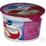 Sour cream Valio Homemade style 23% 200g plastic cup Finland