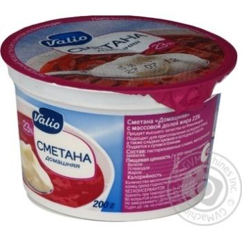 Sour cream Valio Homemade style 23% 200g plastic cup Finland