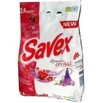 Powdered laundry detergent Savex Premium Romantic Orchid automat 2400g Bulgaria
