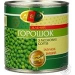 Vegetables pea Asp green canned 420g can
