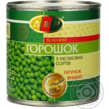 Vegetables pea Asp green canned 420g can Ukraine