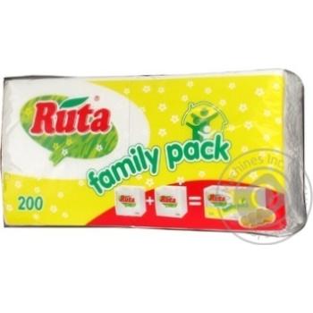 Салфетки Ruta Duo белые бумажные 1-слойные 24*24см 200шт - купить, цены на Novus - фото 4