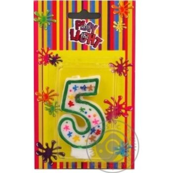 Свічка-цифра 5 Party Favors