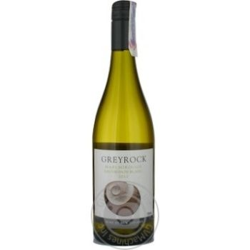 Wine sauvignon-blan Greyrock white dry 12% 750ml glass bottle Marlborough New zeland