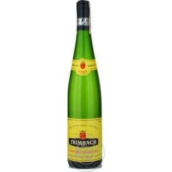 Вино белое Тримбах Гевюрцтраминер виноградное сухое 14% стеклянная бутылка 750мл Франция