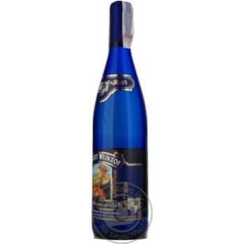 Вино Август Вайнхоф Молоко Любимой Женщины Мадонна Ренесанс белое полусладкое 9,5% 0,75л - купить, цены на МегаМаркет - фото 7