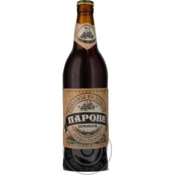 Пиво Пивзавод на Подоле Паровое Премиум темное стеклянная бутылка 4%об. 500мл Украина
