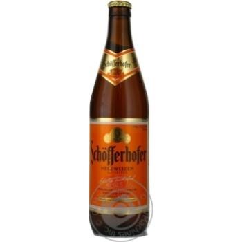 Пиво Шофферхофер Хефевайзен светлое пшеничное нефильтрованное 5.0%об. стеклянная бутылка 500мл Германия