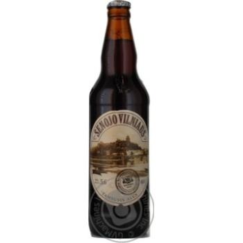 Пиво Вильнюс Алус Сенойо темное пастеризованное стеклянная бутылка 5.6%об. 500мл Литва - купить, цены на Novus - фото 5