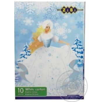 Картон ZiBi Kids Line белый А4 10 листов 235г/м2 - купить, цены на Ашан - фото 3
