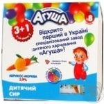 Творожок детский Агуша абрикос-морковь 3.9% 50г х 4шт