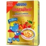Baby dairy-free porridge Neastle Shagaika 5 cereals with strawberry and cherry for 10+ months babies 200g Spain