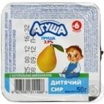 Cottage cheese Agusha pear for 6+ months babies 3.9% 50g Ukraine