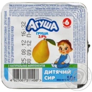 Творог Агуша Груша для детей с 6 месяцев 3.9% 50г
