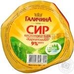 Творог Галичина Карпатский кисломолочный 9% 300г Украина