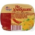 Сир плавлений На хлебушек 45% п/е 100г