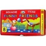 Фарби гуаш Funny Friends 8 кол,