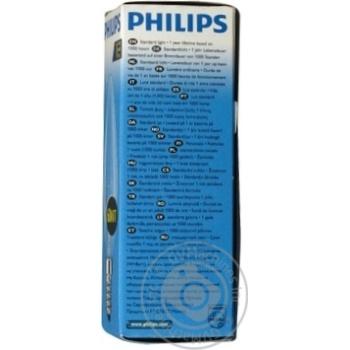 Лампа Philips B35 свічка прозора 60w Е14 CL - купить, цены на Novus - фото 2