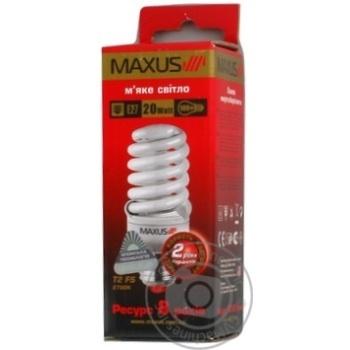 Лампа енергозберігаюча Maxus T2 FS 20w,2700K,E27
