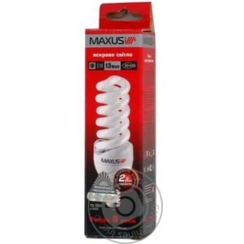 Лампа енергозберігаюча Maxus SFS 13w 4100K E14,1-ESL-226