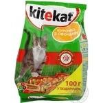 Корм сухой Kitekat для кошек курочка с овощами 1кг